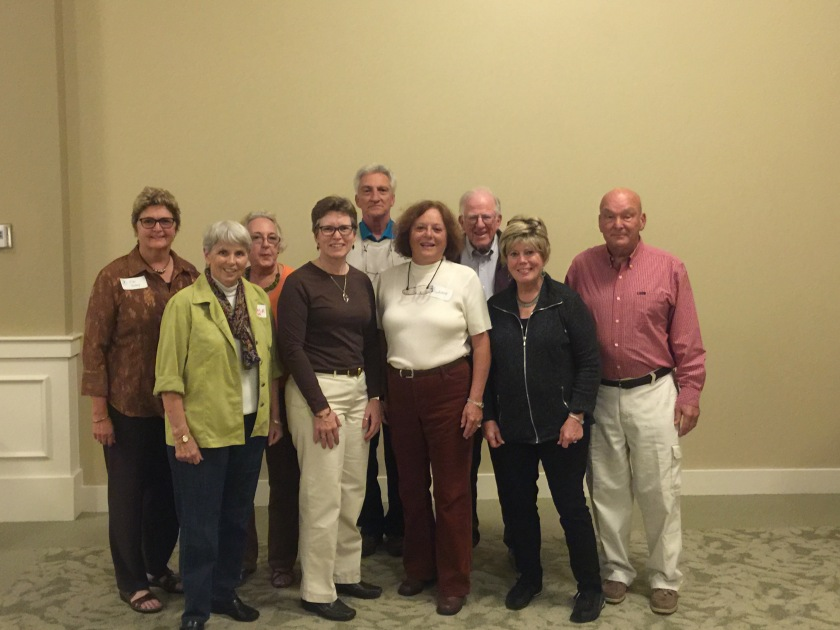 SIB Executive Board (Left to right) Flo Foley, Marcia Hider, Donna Lawrence, Nancy Brown, Dean Morr, Judy Morr, George Haskins, Lyn Magee, Charley Moore