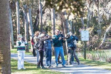 SIB members birding at Palmetto Lake - Charles Moore