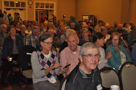 It was a full house in the Live Oak Hall at the Lake House with more than 130 SIB members and guests - Ed Konrad