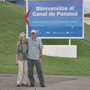 Aija & Ed Konrad at the Panama Canal