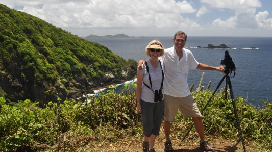 Aija & Ed Konrad at Little Tobago, Bird of Paradise Island