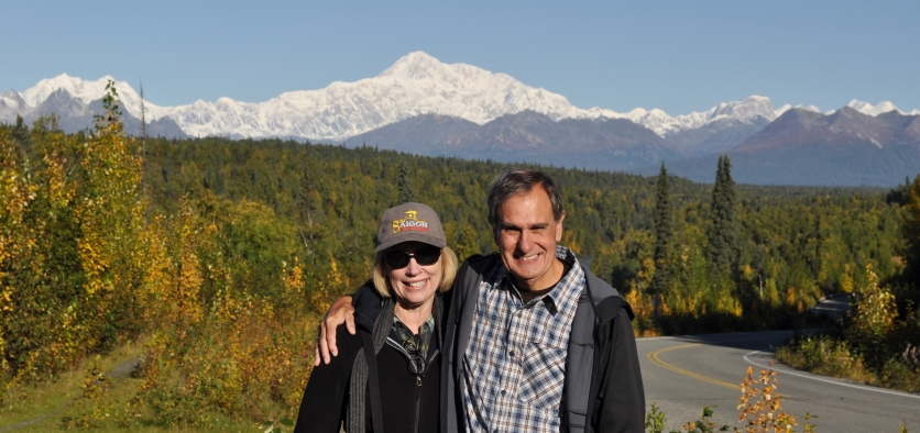 Aija & Ed Konrad at Mt McKinley Alaska