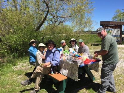 Wings tour participants enjoying a picnic lunch - Flo Foley