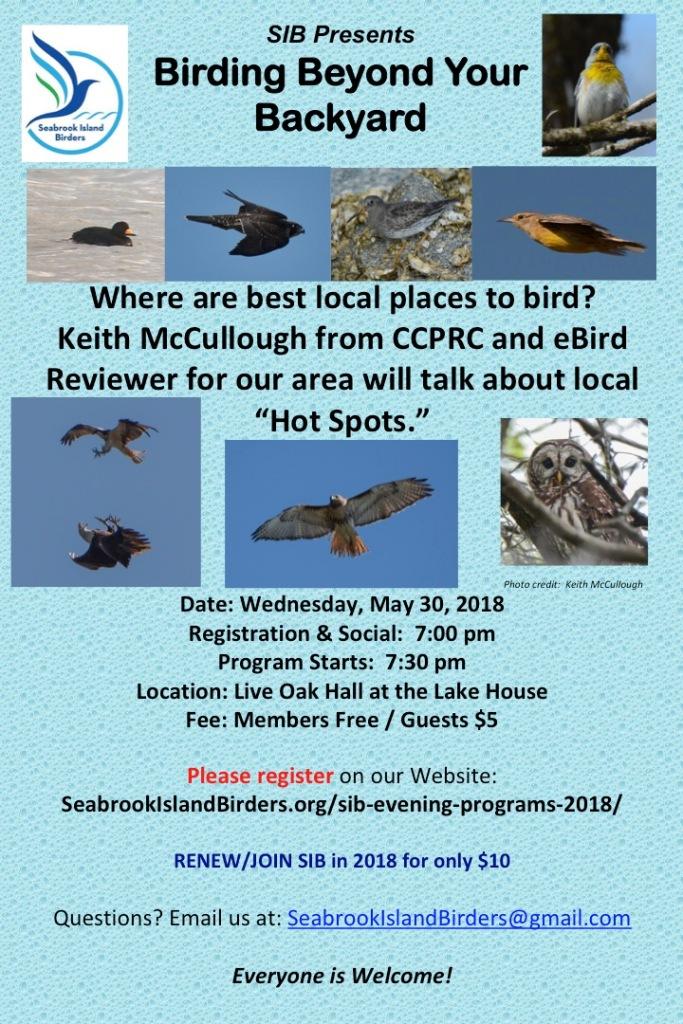 SIB Birding Hot Spots 05 30 18 Poster 20 x 30