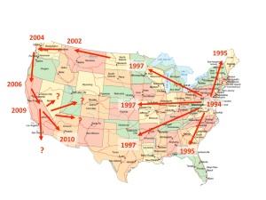House Finch Disease Map
